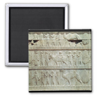 the relief frieze on the East stairway 2 Inch Square Magnet