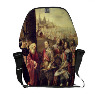 The Relief of Genoa, 1528, c.1634-35 (oil on canva Messenger Bag