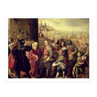 The Relief of Genoa, 1528, c.1634-35 (oil on canva Postcard