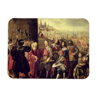 The Relief of Genoa, 1528, c.1634-35 (oil on canva Rectangular Photo Magnet