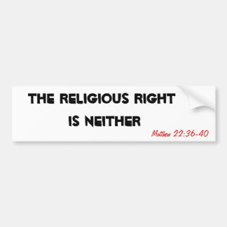 The Religious Right is Neither Bumper Sticker