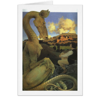 The Reluctant Dragon, Maxfield Parrish Card