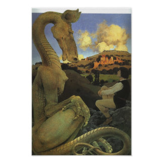 The Reluctant Dragon, Maxfield Parrish Poster