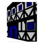 The Renaissance House - grey Postcard