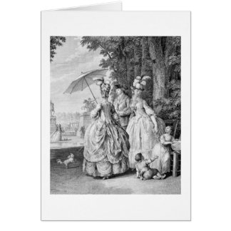The Rendezvous at Marly, engraved by Carl Guttenbe Card