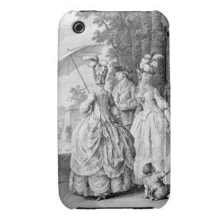 The Rendezvous at Marly, engraved by Carl Guttenbe Case-Mate iPhone 3 Case