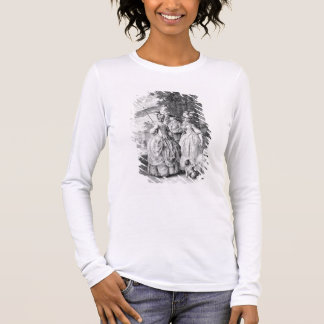 The Rendezvous at Marly, engraved by Carl Guttenbe Long Sleeve T-Shirt