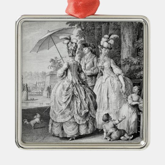 The Rendezvous at Marly, engraved by Carl Guttenbe Metal Ornament