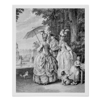 The Rendezvous at Marly, engraved by Carl Guttenbe Poster