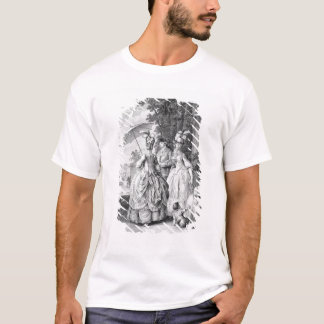 The Rendezvous at Marly, engraved by Carl Guttenbe T-Shirt
