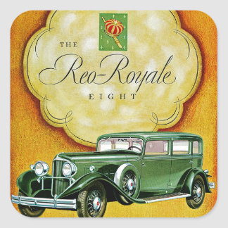 The Reo-Royale Eight Square Sticker