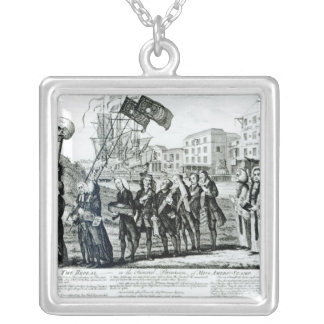 The Repeal, or the Funeral Procession Square Pendant Necklace