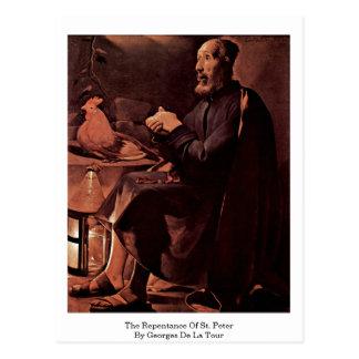 The Repentance Of St. Peter By Georges De La Tour Postcard