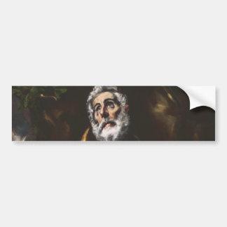 The Repentant Saint Peter by El Greco Bumper Sticker