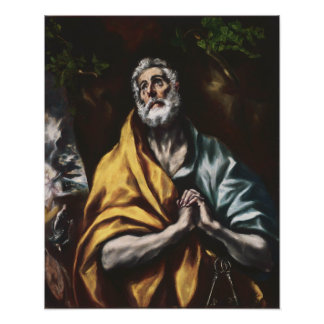 The Repentant Saint Peter by El Greco Poster