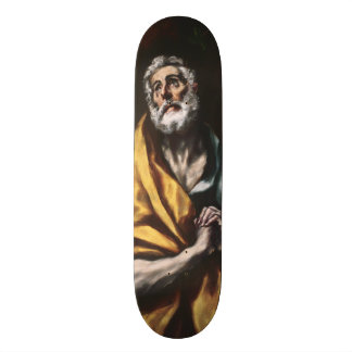 The Repentant Saint Peter by El Greco Skateboard Deck