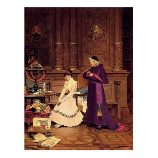 The Reprimand by Jean Georges Vibert Postcard