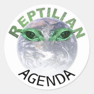 The Reptilian Agenda Sticker