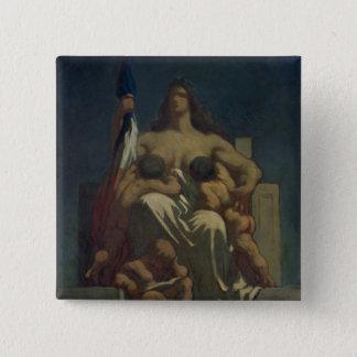 The Republic, 1848 (oil on canvas) Pinback Button