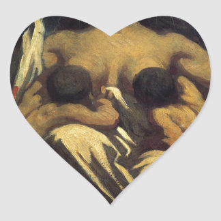 The Republic by Honore Daumier Heart Sticker