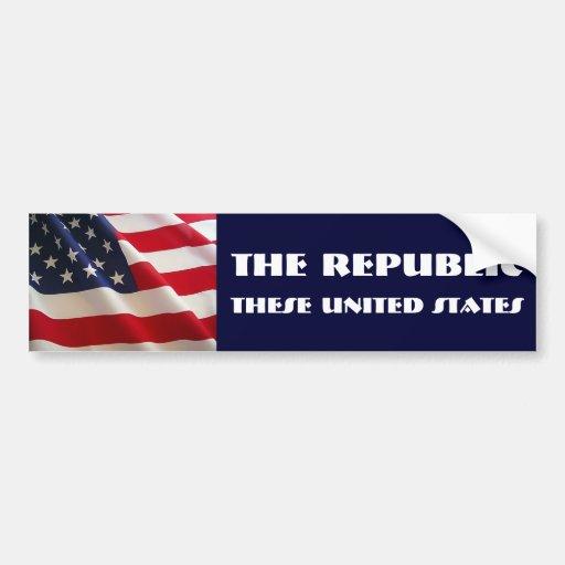 The Republic Car Bumper Sticker