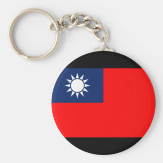 The Republic China Flag Basic Round Button Keychain