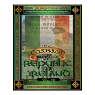 The Republic of Ireland Centennial. Poster