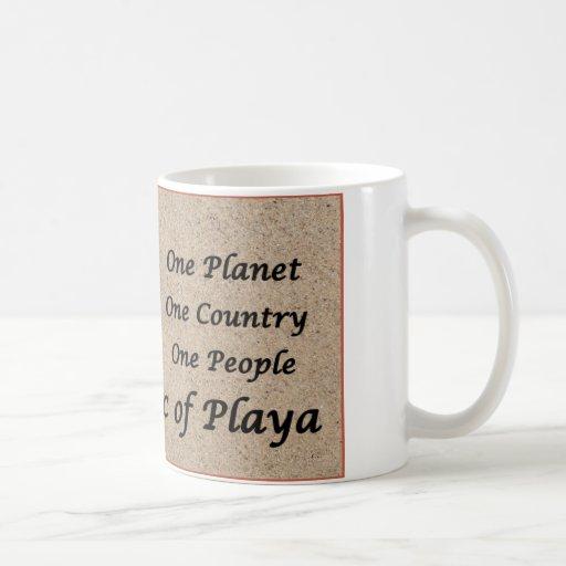 The Republic of Playa on Toes Beach Sand Coffee Mugs