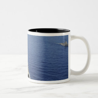 The Republic of the Philippines Navy ships Two-Tone Coffee Mug
