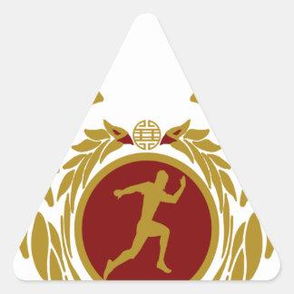 The Republic of Vietnam Vertical Running.png Triangle Sticker