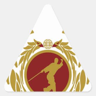 The Republic of Vietnam Vovinam (armed).png Triangle Sticker
