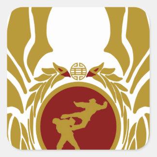 The Republic of Vietnam Vovinam (unarmed).png Square Sticker