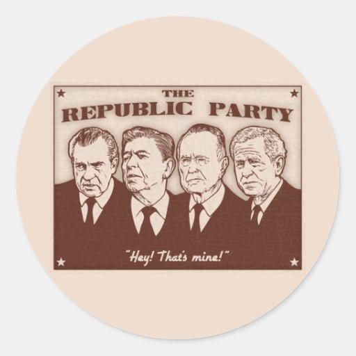The Republic Party Sticker