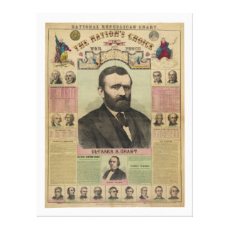 The Republican Chart Ulysses S. Grant by M.T. Boyd Canvas Prints