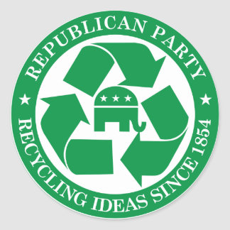 The Republicans - Recycling ideas since 1854 Stickers