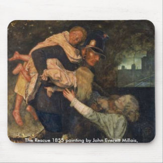 The Rescue 1855 painting by John Everett ,Mousepad