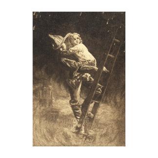 The Rescue 1888 Canvas Print