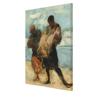 The Rescue, c.1870 Canvas Print
