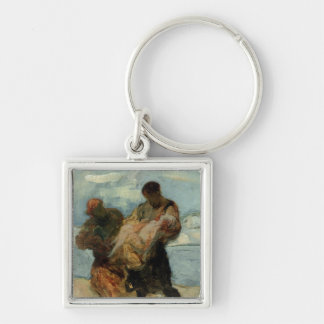 The Rescue, c.1870 Keychain