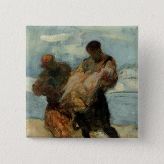 The Rescue, c.1870 Pinback Button
