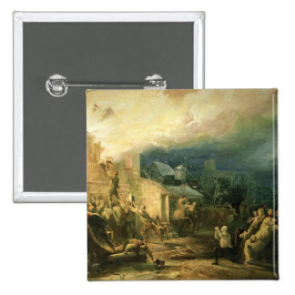 The Rescue of John Wesley 2 Inch Square Button