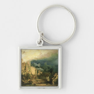 The Rescue of John Wesley Silver-Colored Square Keychain