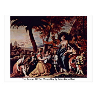 The Rescue Of The Moses Boy By Sebastiano Ricci Postcard