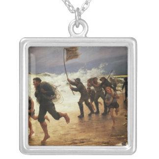The Rescue Square Pendant Necklace
