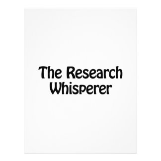 """the research whisperer 8.5"""" x 11"""" flyer"""