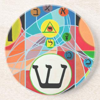 The Resh Shin Tav - Hebrew alphabet Coaster