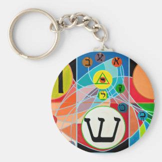 The Resh Shin Tav - Hebrew alphabet Keychain