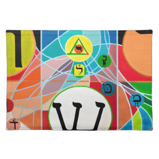 The Resh Shin Tav - Hebrew alphabet Placemat