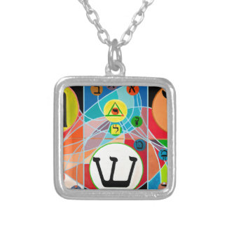The Resh Shin Tav - Hebrew alphabet Silver Plated Necklace