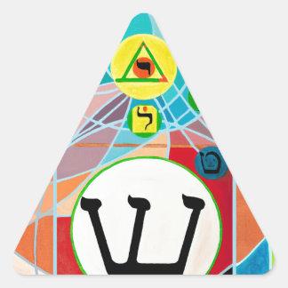 The Resh Shin Tav - Hebrew alphabet Triangle Sticker